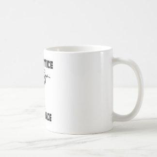 """""""Keine Gerechtigkeit, kein Frieden """" Kaffeetasse"""