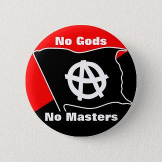keine Götter keine Meister rot und schwarzer Knopf Runder Button 5,7 Cm