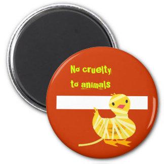 Keine Grausamkeit zum Tier-Magneten: Entlein in Runder Magnet 5,7 Cm