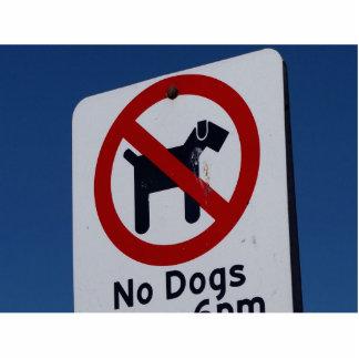 Keine Hunde erlaubt Freistehende Fotoskulptur