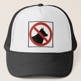 Keine Hunde gewährten,/keine Haustiere Truckerkappe