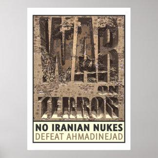 Keine Iraner-Kernwaffen Poster
