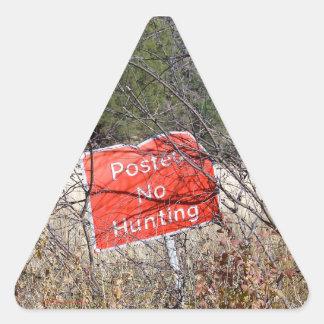 Keine Jagd-Zeichen-Dreieck-Aufkleber Dreieckiger Aufkleber