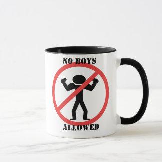 Keine Jungen erlaubt Tasse