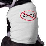 Keine Katzen! Rotes Kreis-Zeichen Hunde Shirt