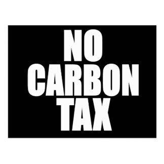 Keine Kohlenstoff-Steuer Postkarte