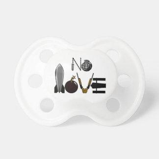 Keine Liebe-Kriegs-Kampfmittel Schnuller