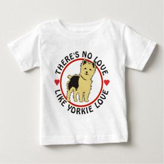 Keine Liebe mögen Yorkie Liebe-Welpen Baby T-shirt