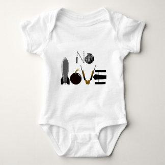 Keine Liebe-Waffen Baby Strampler