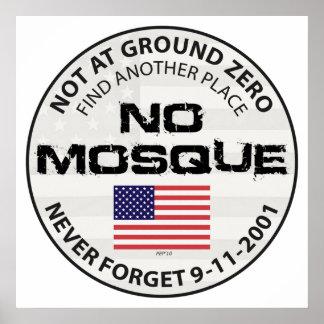 Keine Moschee am Bodennullpunkt Poster
