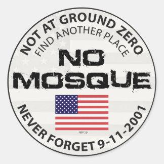 Keine Moschee am Bodennullpunkt Runder Aufkleber