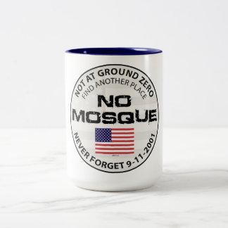 Keine Moschee am Bodennullpunkt Zweifarbige Tasse