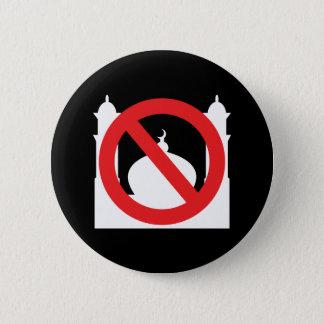 Keine Moschee kein Text Runder Button 5,1 Cm