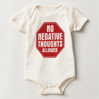 Keine negativen Gedanken erlaubt Baby Strampler