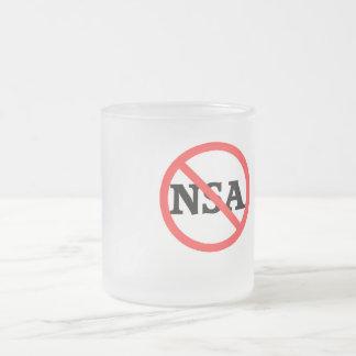 Keine NSA-Kaffee-Tasse Matte Glastasse