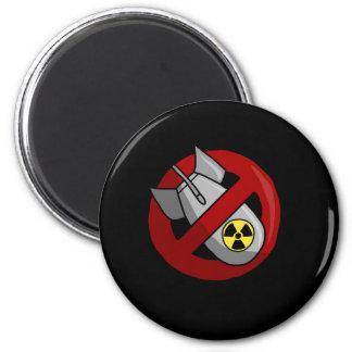 Keine nuklearen Waffen Runder Magnet 5,7 Cm