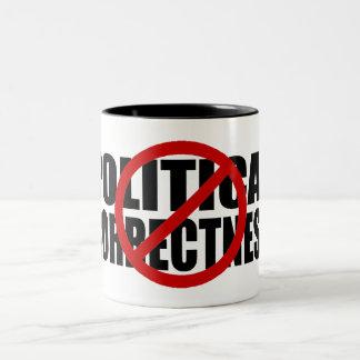 Keine politische Korrektheit Zweifarbige Tasse