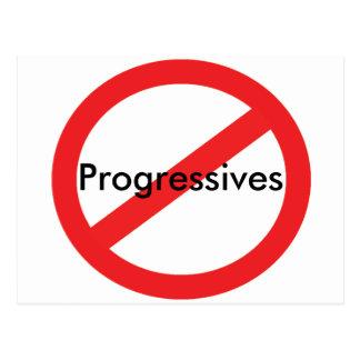 Keine Progressisten Postkarte
