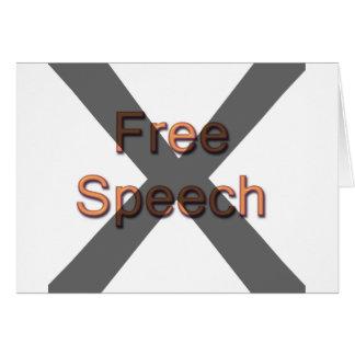 Keine Redefreiheit Karte