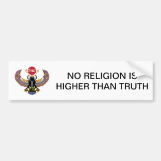 KEINE RELIGION IST HÖHER ALS WAHRHEIT AUTOAUFKLEBER