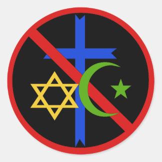 Keine Religion Runder Aufkleber