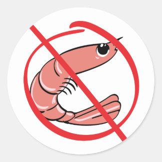 Keine Schalentiere - Allergie Runder Aufkleber