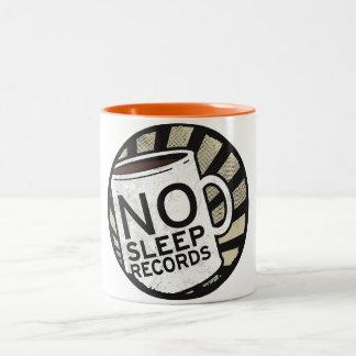 Keine Schlaf-Plattenen-Orange 11 Unze Zwei-Ton Zweifarbige Tasse