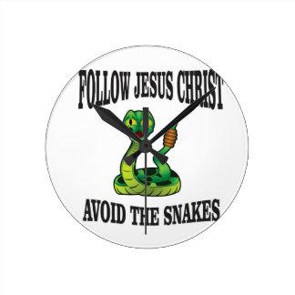 Keine Schlangen mit JC Runde Wanduhr