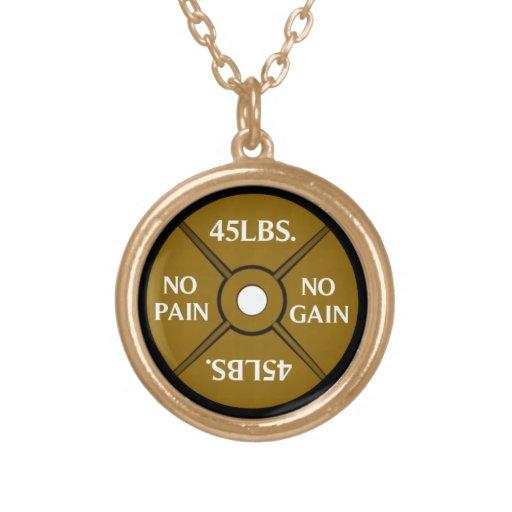 Keine Schmerz keine Gewinn Weightliting Halskette