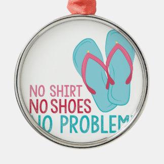 Keine Schuhe Silbernes Ornament