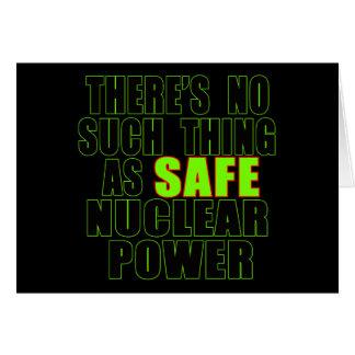 Keine solche Sache wie sichere nukleare Karte