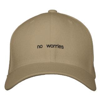keine Sorgen Bestickte Kappe