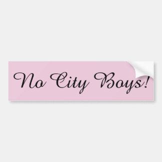 Keine Stadt-Jungen!  Rosa Autoaufkleber