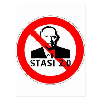 Keine Stasi 2,0 Postkarte