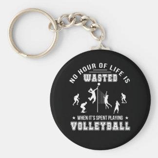 Keine Stunde vergeudet, wenn Volleyball gespielt Schlüsselanhänger