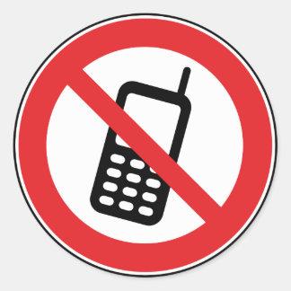 Keine Telefon-Mobiltelefone erlaubten Aufkleber