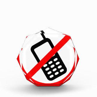 Keine Telefone erlaubt Acryl Auszeichnung