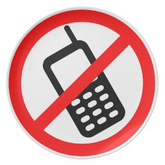 Keine Telefone erlaubt Teller