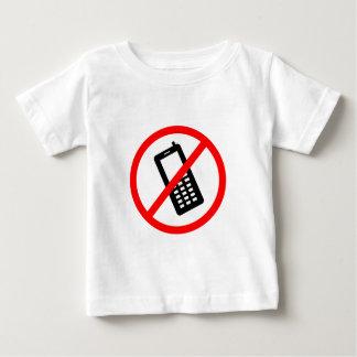 Keine Telefone erlaubten, stellen Ihr Mobiltelefon Baby T-shirt