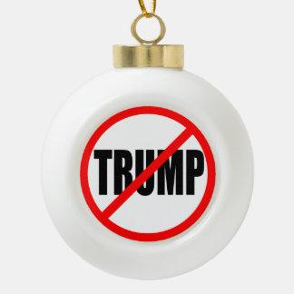 """""""KEINE TRUMPF-"""" (ANTI-TRUMP) VERZIERUNG KERAMIK Kugel-Ornament"""