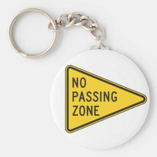 Keine überschreitene Zone Keychain Schlüsselanhänger
