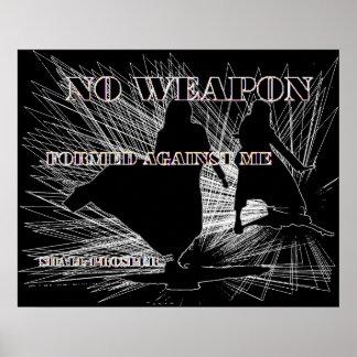 Keine Waffe gebildet! Poster
