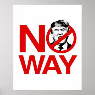 Keine Weise kein Trumpf - Anti-Trumpf - Poster