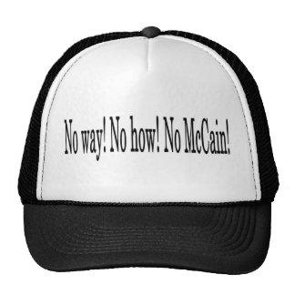 Keine Weise! Kein wie! Kein McCain! Obama Biden 08 Truckermützen
