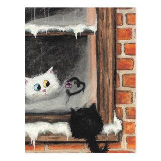Keine Wörter benötigt - Valentinsgruß-Katzen durch Postkarte