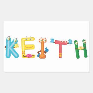 Keith-Aufkleber Rechteckiger Aufkleber