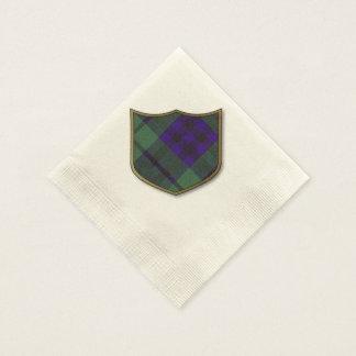 Keith-Clan karierter schottischer Tartan Papierserviette