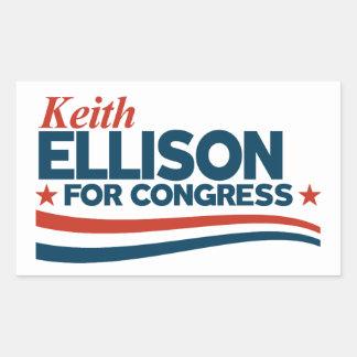 Keith Ellison Rechteckiger Aufkleber
