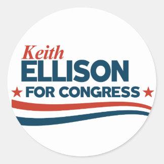 Keith Ellison Runder Aufkleber
