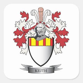 Keith-Familienwappen-Wappen Quadratischer Aufkleber